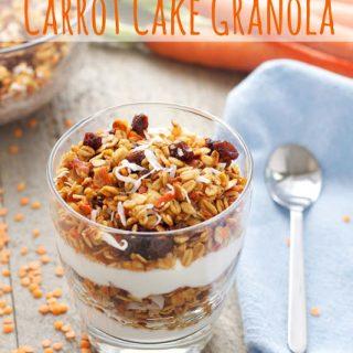 Red Lentil Carrot Cake Granola #LoveLentils