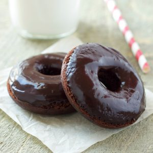 Healthier Double Chocolate Baked Donuts