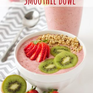 Strawberry Kiwi Smoothie Bowl