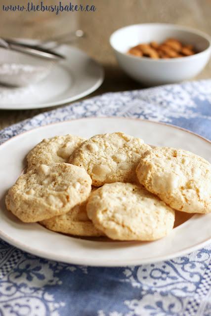 plate full of Amaretti cookies (Italian Almond Cookies)