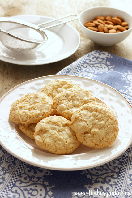 platter full of Italian Almond Cookies (Amaretti Cookies)