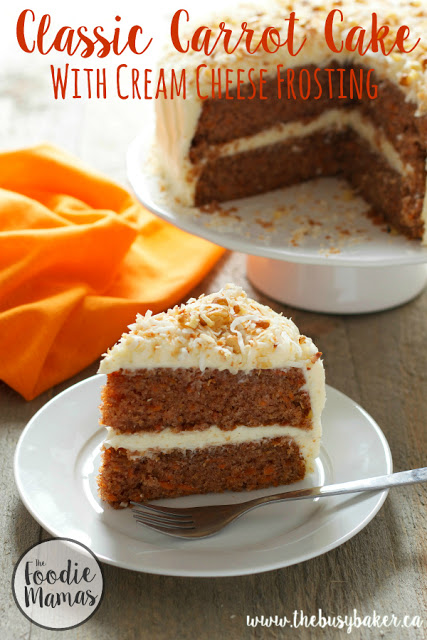 titled image (and shown): Classic Carrot Cake with Cream Cheese Frosting