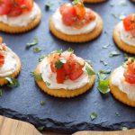 creamy bruschetta appetizer bites