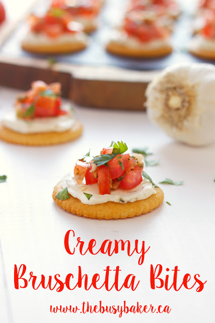 titled image (and shown): Creamy Bruschetta Bites