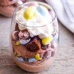 Mini Eggs Easter Brownie Parfaits