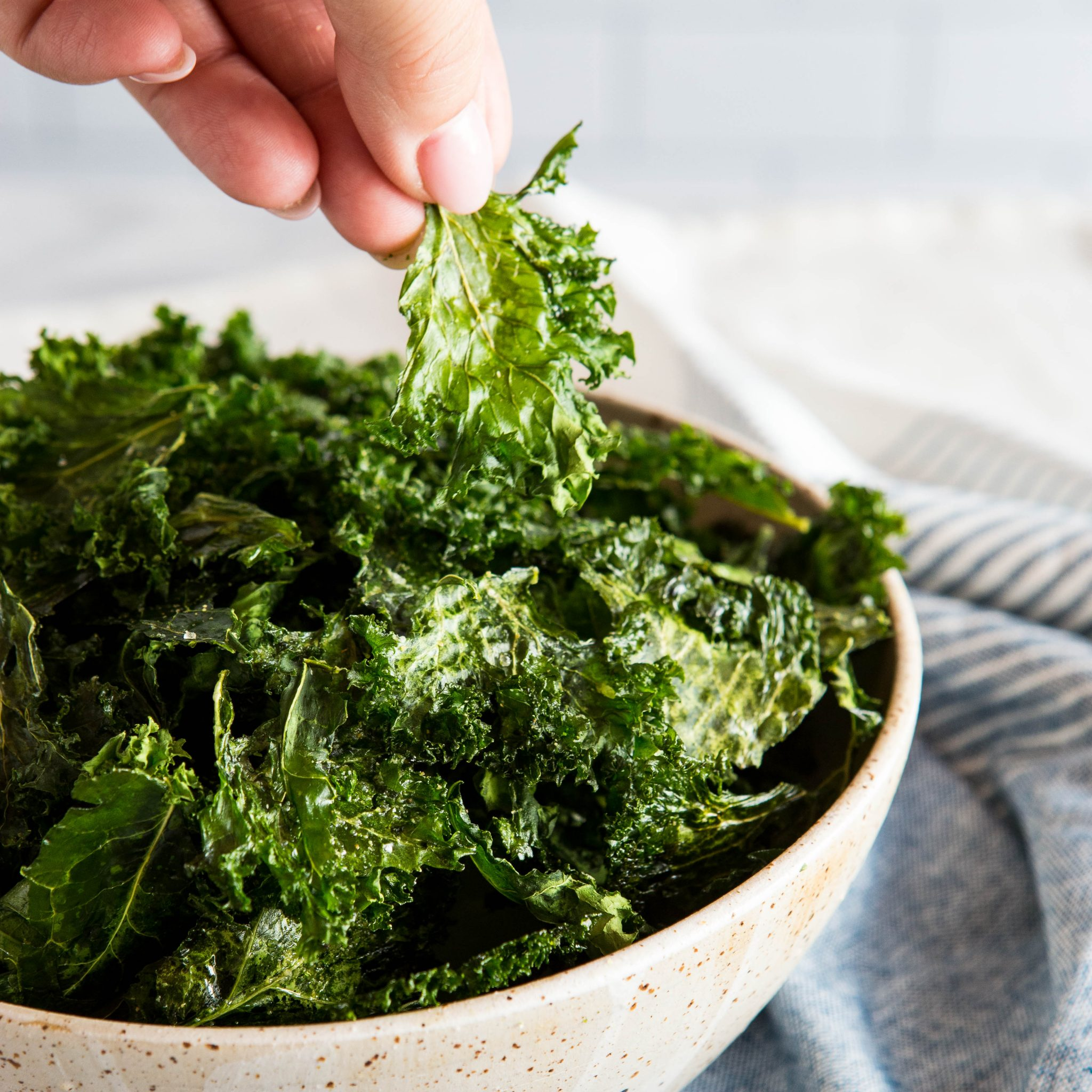 kale chips recipe garlic powder No Fail Sea Salt and Garlic Kale Chips - The Busy Baker
