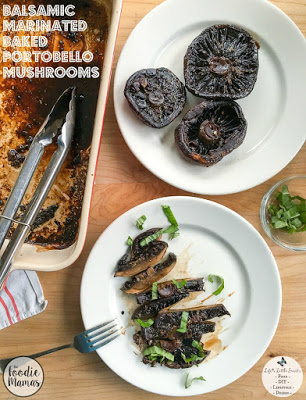 Balsamic Marinated Baked Portobello Mushrooms
