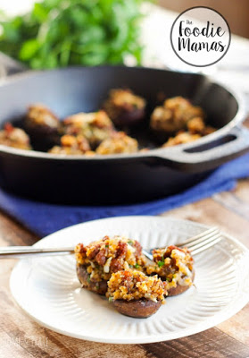 Chorizo Manchego Stuffed Mushrooms