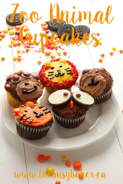 titled image (and shown) Zoo Animal Cupcakes