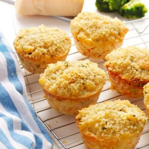 broccoli mac and cheese muffins