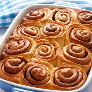 titled image (and shown): homemade cinnamon buns
