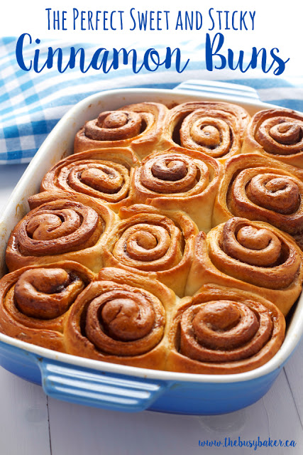The Perfect Sweet and Sticky Cinnamon Buns www.thebusybaker.ca
