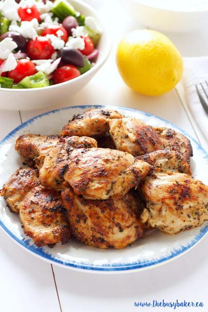 Easy Greek Chicken Souvlaki www.thebusybaker.ca