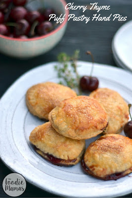 Cherry Thyme Puff Pastry Hand Pies