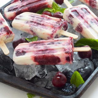 cherry cheesecake popsicles