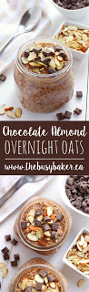 Chocolate Almond Overnight Oats www.thebusybaker.ca