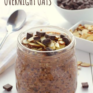 Chocolate Almond Overnight Oats