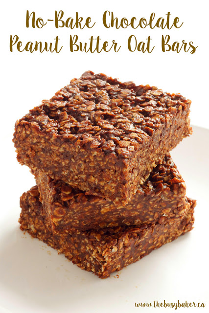titled image (and shown): No-Bake Chocolate Peanut Butter Oat Bars