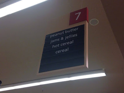 Safeway store aisle sign
