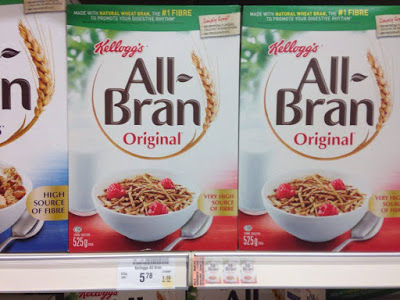 boxes of All-Bran cereal