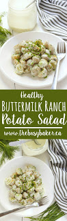 Healthy Buttermilk Ranch Potato Salad www.thebusybaker.ca