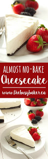 No-Bake Cheesecake www.thebusybaker.ca