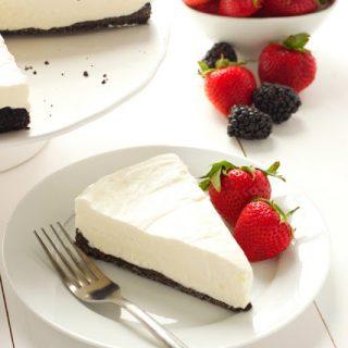 Almost No-Bake Cheesecake