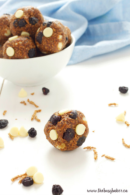 Blueberry White Chocolate Energy Balls