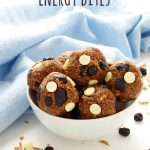 Blueberry White Chocolate No Bake Energy Bites