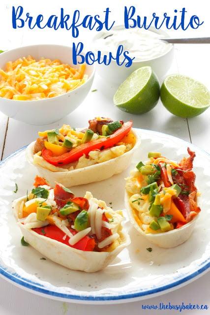 Breakfast Burrito Bowls www.thebusybaker.ca