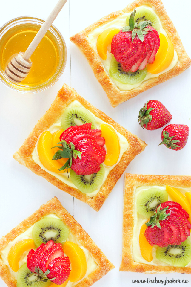 Honey Glazed Fruit Tarts with Vanilla Custard Filling