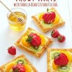 Vanilla Bean Custard Fruit Tarts with Honey Glazed Fruit