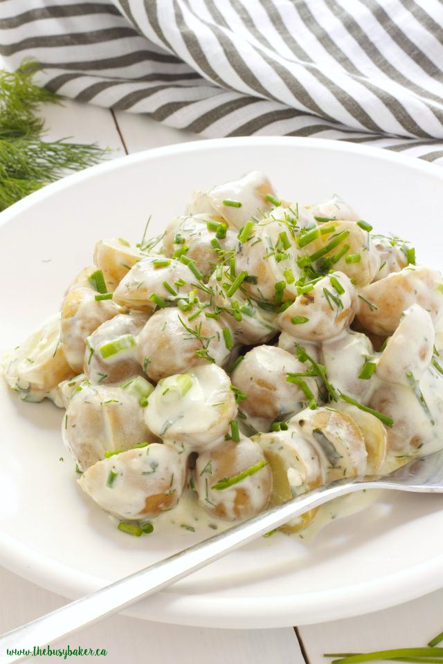 Healthy Buttermilk Ranch Potato Salad www.thebusybaker.ca