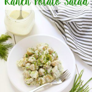 titled photo - healthy buttermilk ranch potato salad
