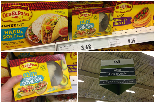 store shelves stocked with Old El Paso products