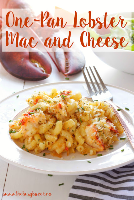 titled image (and shown) One-Pan Lobster Mac and Cheese