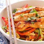 Thai Chicken Spiralized Zucchini Salad