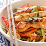 Thai Chicken Spiralized Zucchini Salad