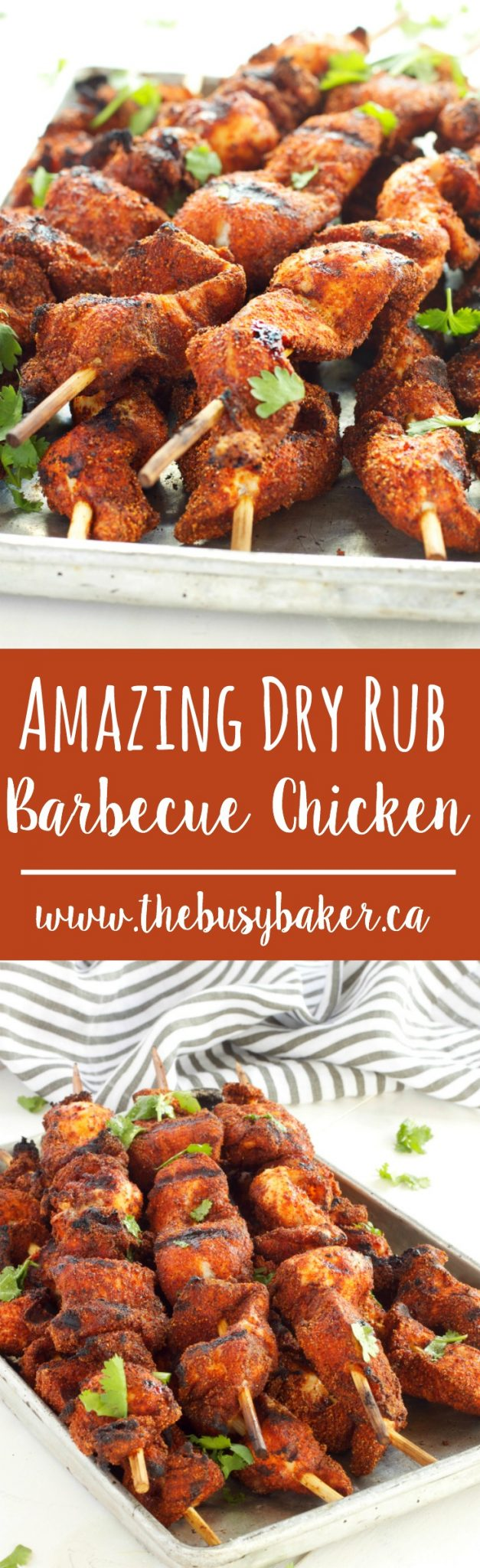 This Dry Rub Barbecue Chicken is crispy on the outside, juicy on the inside, and bursting with sweet barbecue flavour, making it perfect for grilling. Recipe from thebusybaker.ca! via @busybakerblog