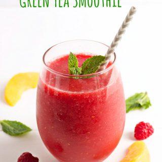 Raspberry Peach Green Tea Smoothie
