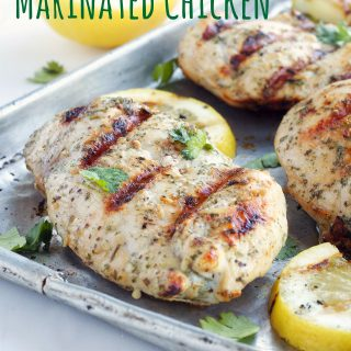 White Wine and Herb Marinated Grilled Chicken