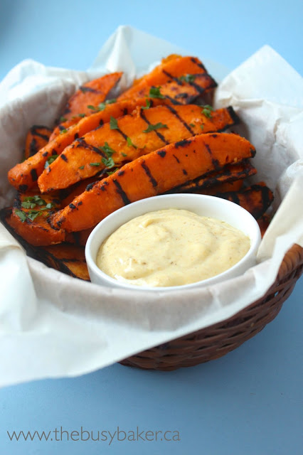 http://www.thebusybaker.ca/2015/07/grilled-sweet-potato-wedges-with-sweet.html