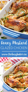 Honey Mustard Glazed Chicken www.thebusybaker.ca
