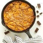 Pumpkin Swirl Skillet Brownies