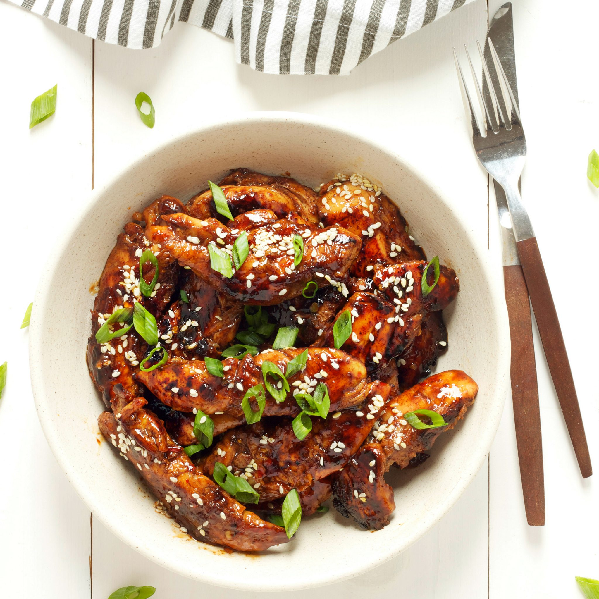 easy sticky asian chicken - the busy baker