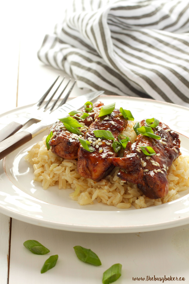 Easy sticky asian chicken the busy baker easy sticky asian chicken a super easy chinese take out dish you can make forumfinder Images