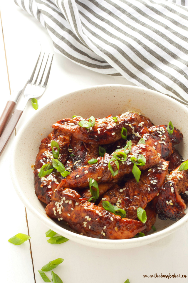 Easy Sticky Asian Chicken   A super easy chinese take-out dish you can make at home! www.thebusybaker.ca