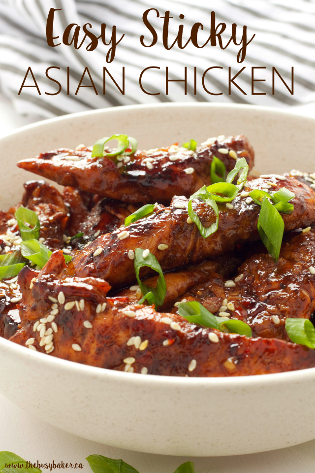 Easy sticky asian chicken the busy baker easy sticky asian chicken a super easy chinese take out dish you can make forumfinder Choice Image