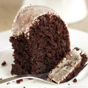 Glazed Chocolate Donut Bundt Cake