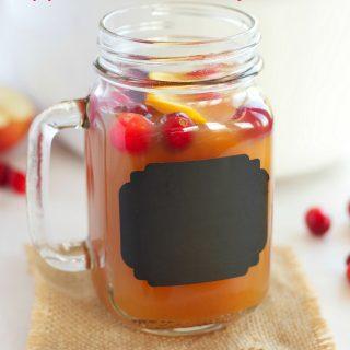 Slow Cooker Apple Cranberry Cider